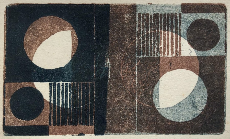 John Wells, Abstract Composition, 1969