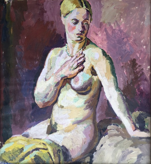 Duncan Grant, Seated Female Nude, 1928