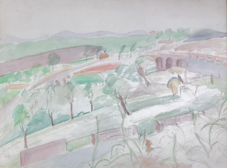 Edward Wolfe, Welsh Landscape, c. 1940s