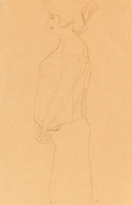 Gustav Klimt, Study for 'Hope', 1903/04