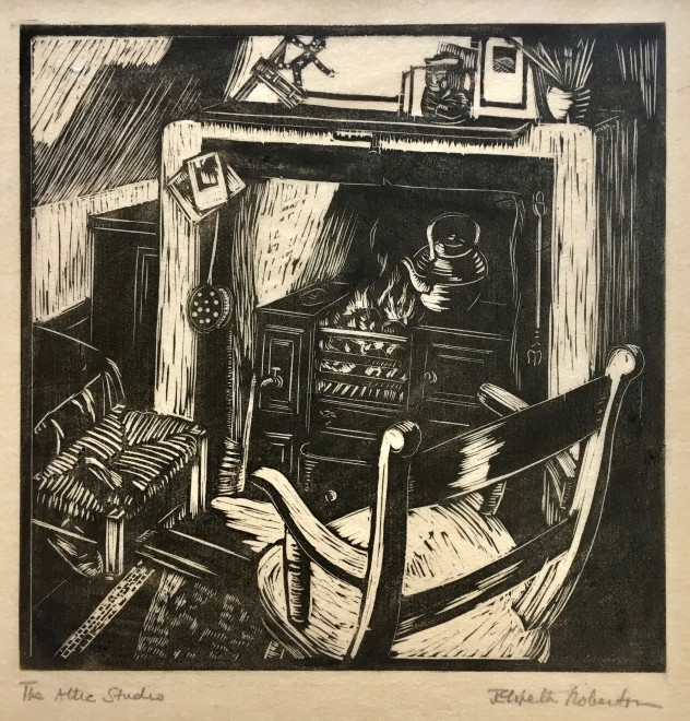 Elspeth Robertson, The Attic Studio, c. 1925
