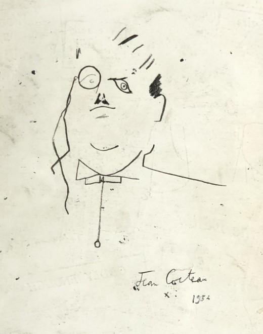 JEAN COCTEAU, Portrait of dighilev