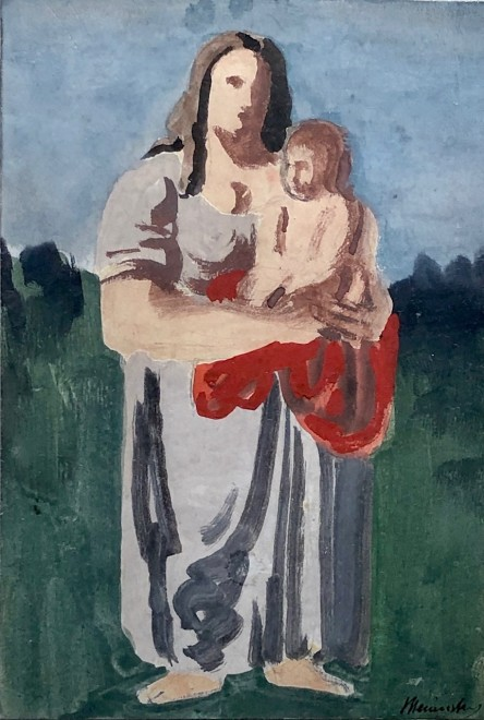 Bernard Meninsky, Mother and Child, c. 1950