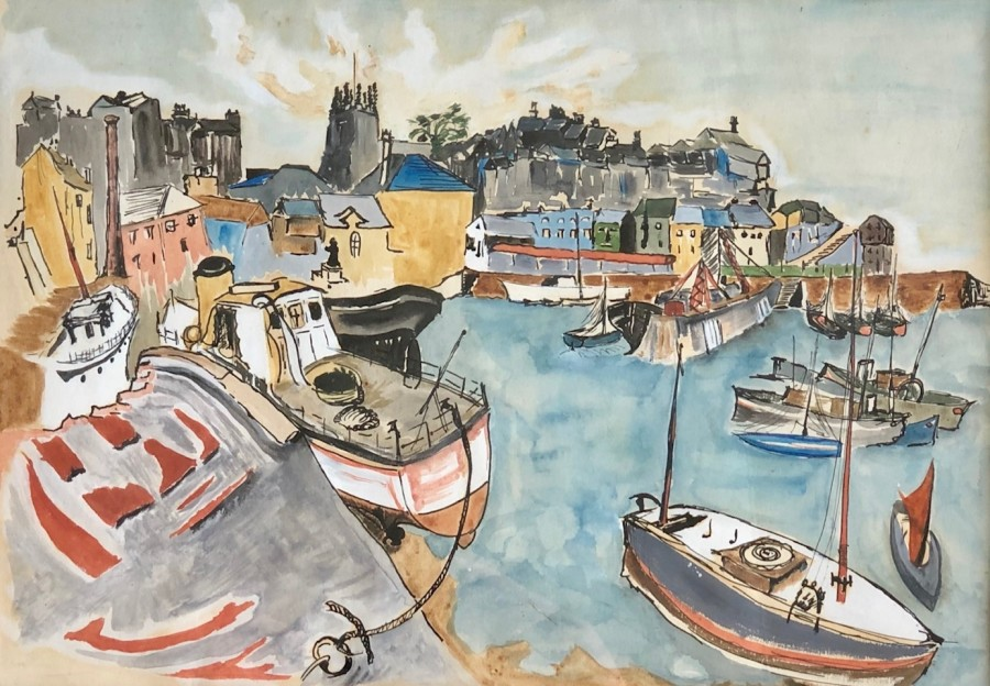 Tom Early, Brixham Harbour, 1948
