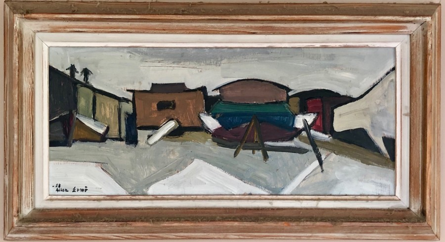 Allan Erwo, Boatyard, 1958