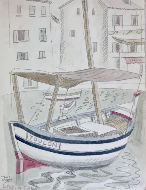 Doris Hatt, Toulon Boat, St. Tropez, 1950