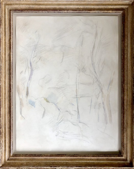 Paul Cézanne, Rochers et arbres, 1890-95