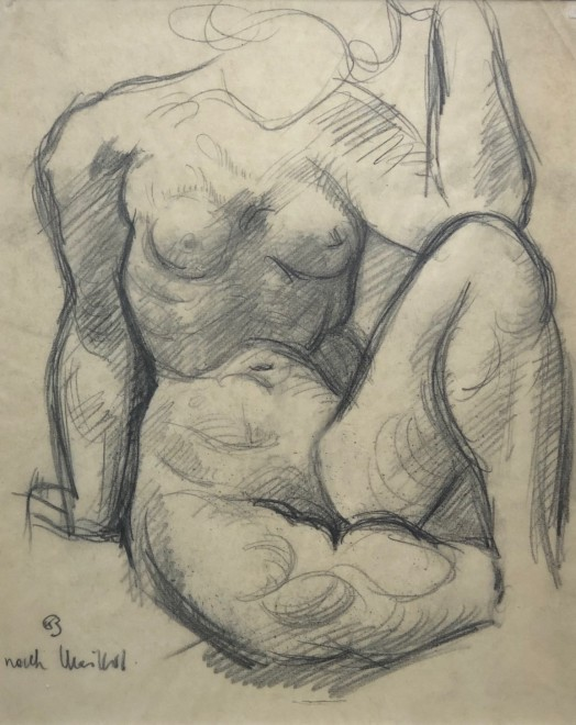 Kurt Badt, Nude Study (After Maillol), c. 1918