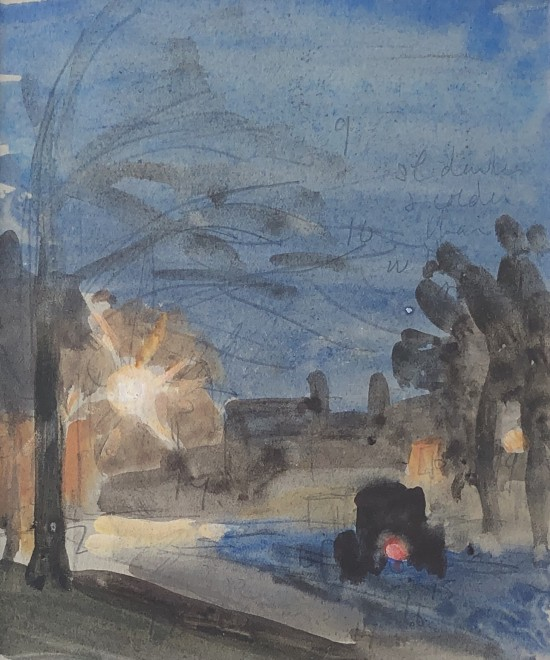Jean Alexander, Street Scene  5.5 x 4 inches