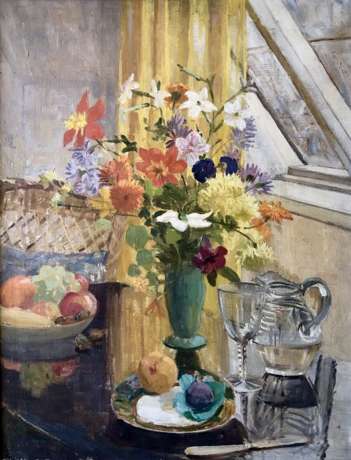 Ethel Heron, Still Life with Flowers and Fruit, c. 1910