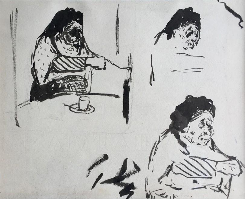 Edouard Vuillard, Études pour 'La Grandmère de l'artiste', c. 1887/91