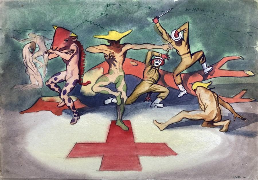 Harold Yates, 1941 - A War Allegory, 1941