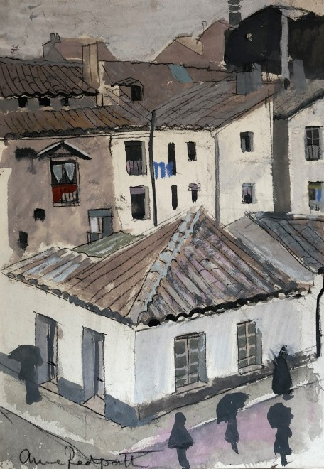 Anne Redpath, Street Scene, Cuenca, Spain, 1951
