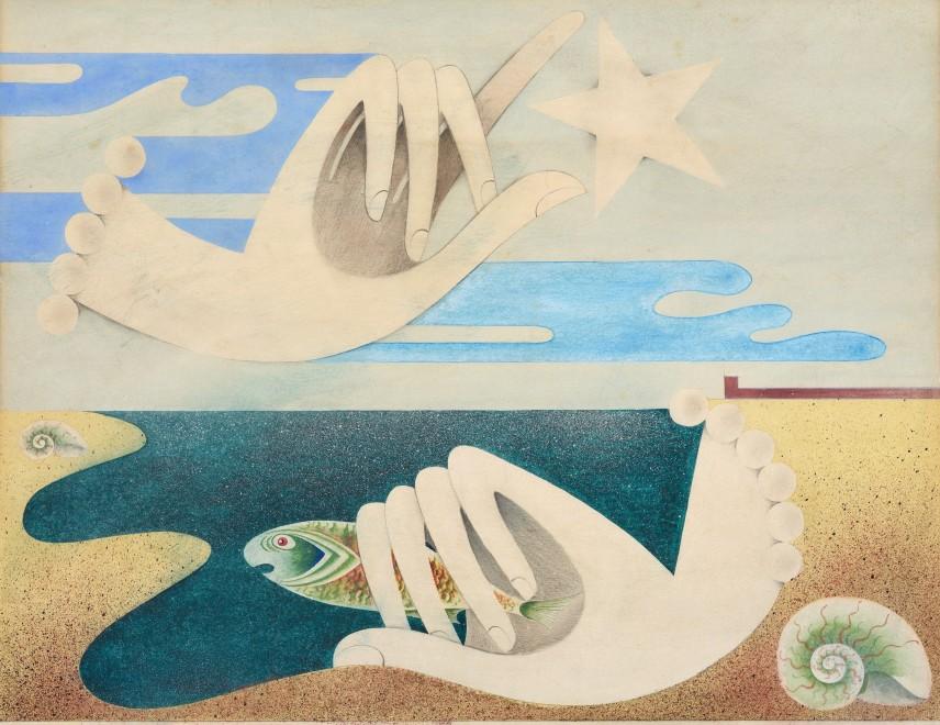 Roderick Bisson, Nautilus, Starfish in the Hand , c. 1942