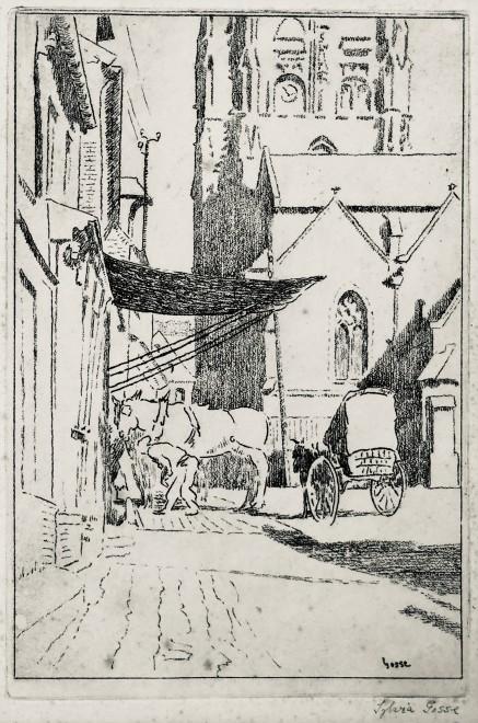 Sylvia Gosse, Street in Envermeu, 1919