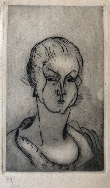 Jean Metzinger, Buste de femme, 1911