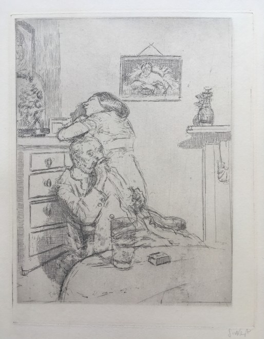 Walter Sickert, Ennui (The Medium Plate) Fourth state , 1914/15