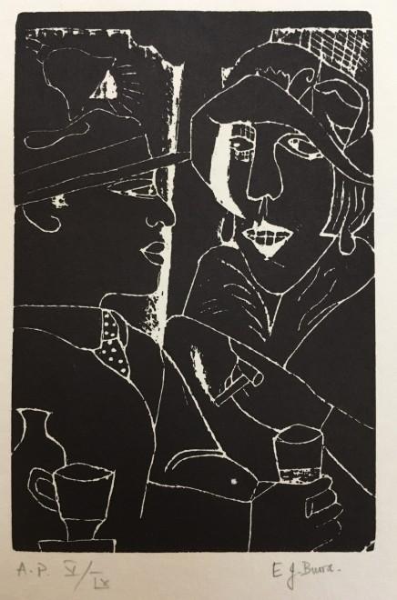 Edward Burra, Two in a Bar, 1929