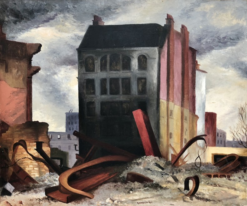 Margaret Geddes, London in the Blitz, 1941