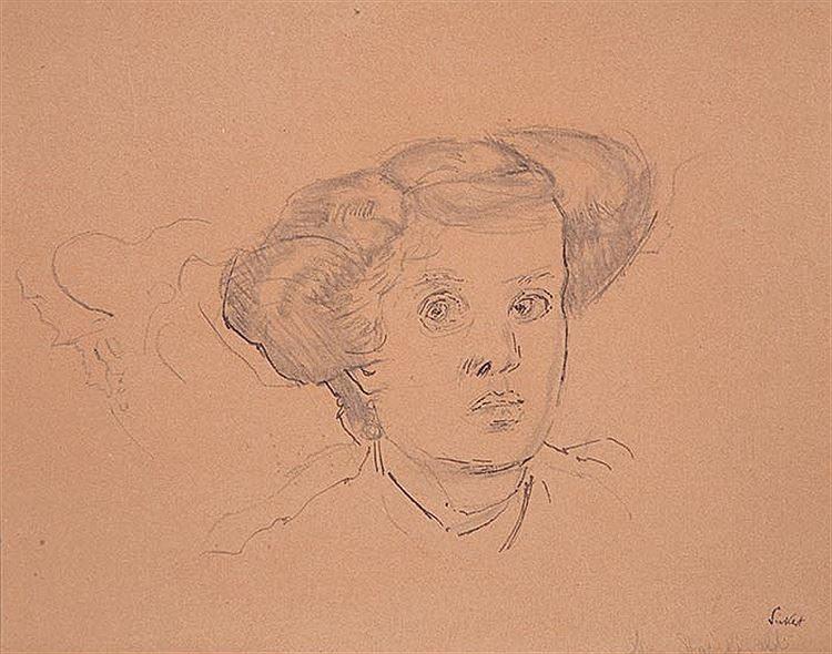 Walter Sickert, Head of a Woman (Mrs Starchfield), c. 1906