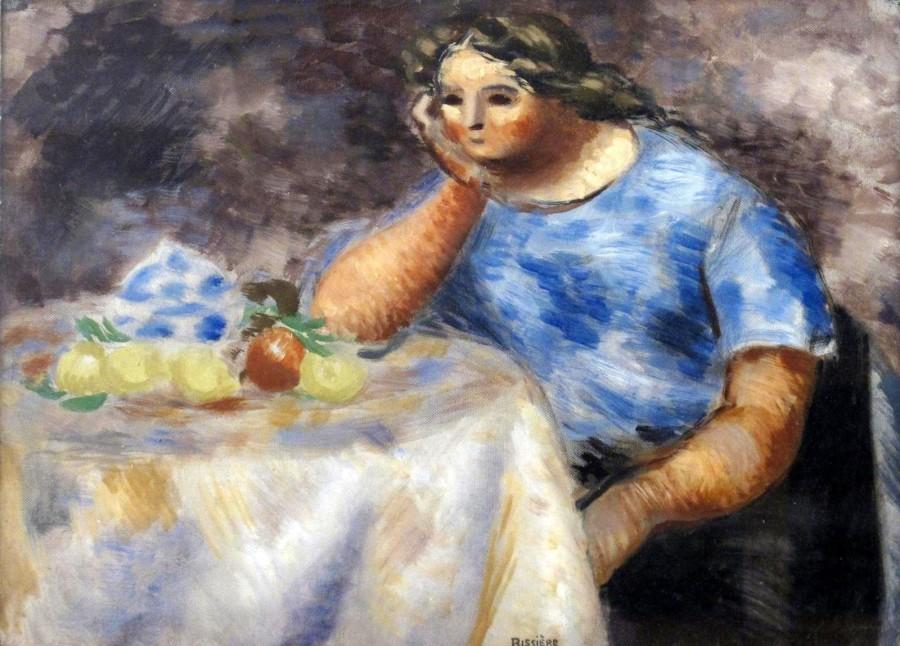 ROGER BISSIÈRE (1886-1964)  FEMME ACCOUDÉE, c. 1930  SOLD