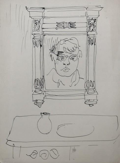 Glyn Morgan, Self Portrait, 1951