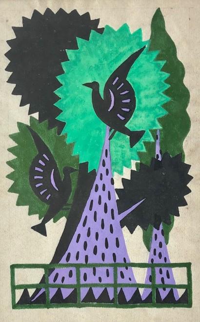 Nicolas Sorokine, Bird Design, 1920