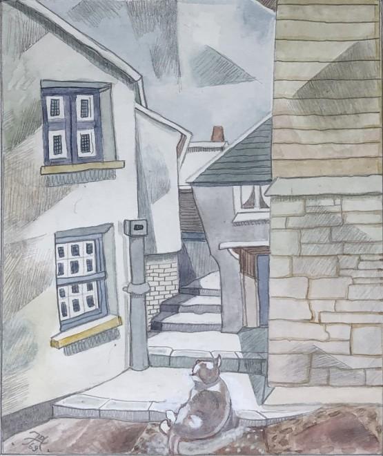 Doris Hatt, A Cornish Street Corner, 1969