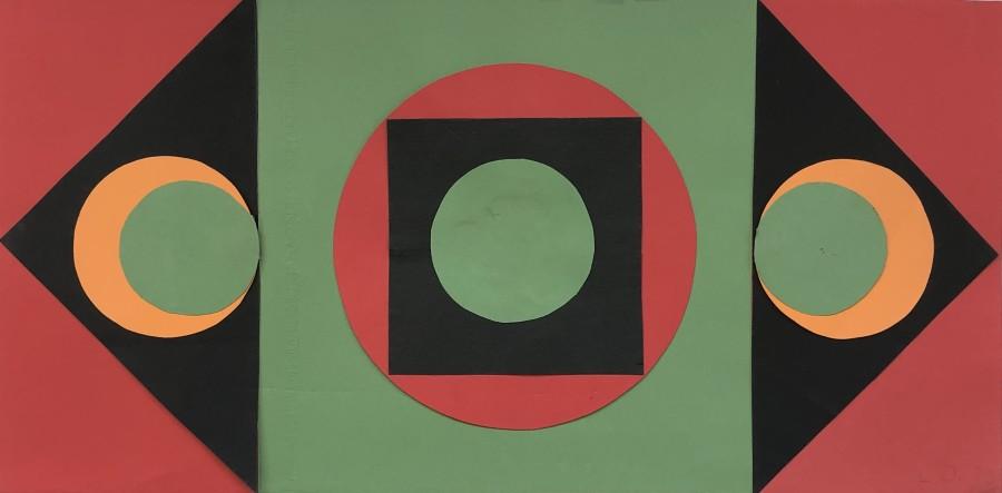 Lucienne Olivieri, Triptych Composition, 1970