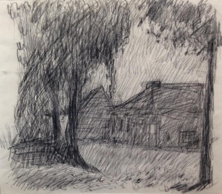 PIERRE BONNARD (1867-1947)  MAISON À TRAVERS LES ARBRES, c. 1910