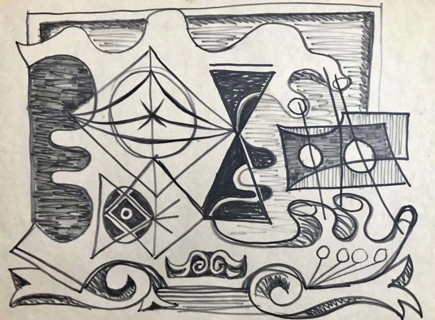 John Banting, Study for Impending Strife, c. 1948
