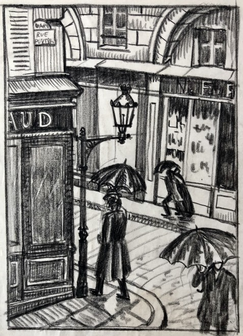 Ethelbert White, A Paris Street, 1912