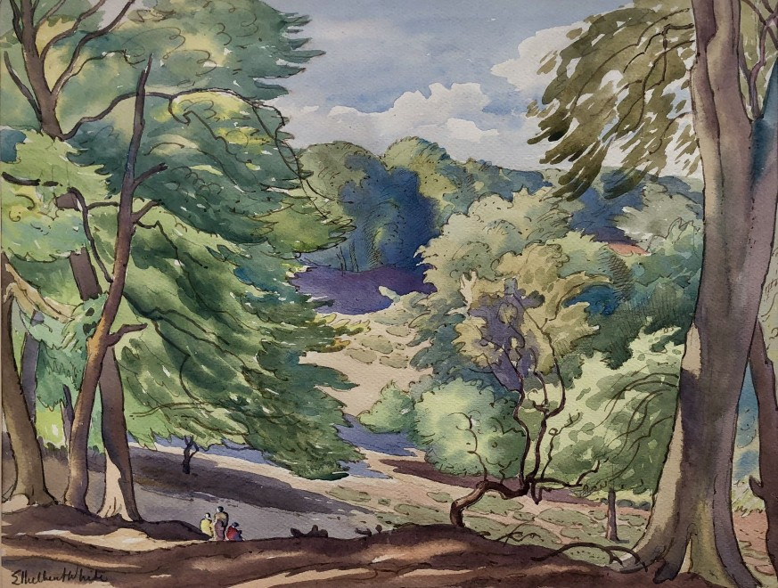 Ethelbert White, Wooded Hillside, 1933