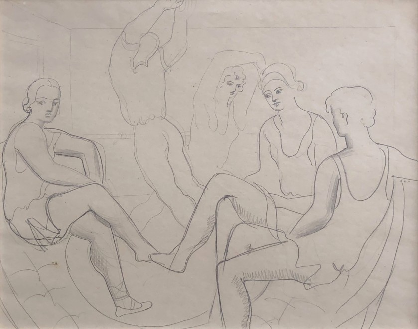 Christopher Wood (1901-1930)  Study of Dancers (Romeo and Juliet), 1925