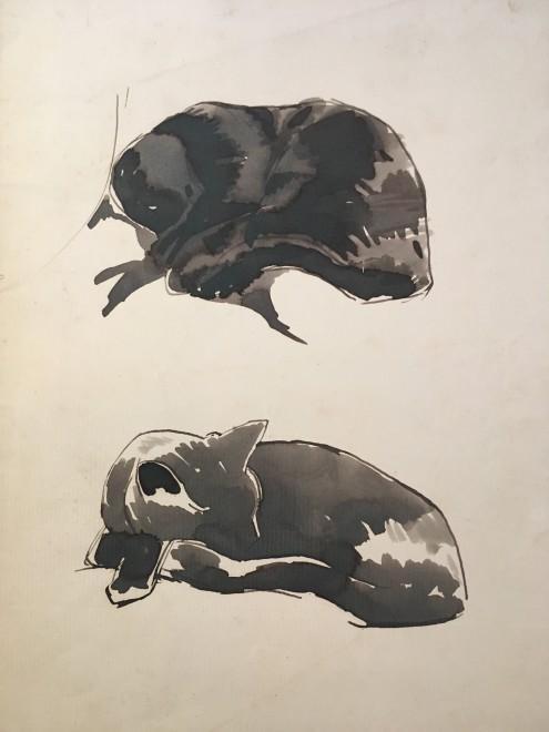 Rupert Lee, Cat Studies, c. 1920