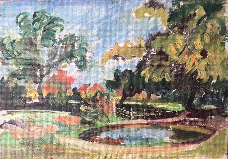 Rupert Lee, Pond near Iver Heath, Bucks, c. 1930's