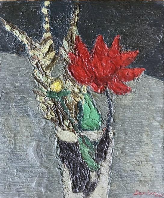 Bryan Senior, Flower Piece with Red Dahlia, 1960