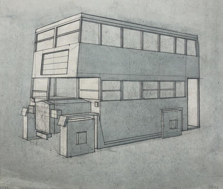 Edith Lawrence, Cubist Bus Design, 1937