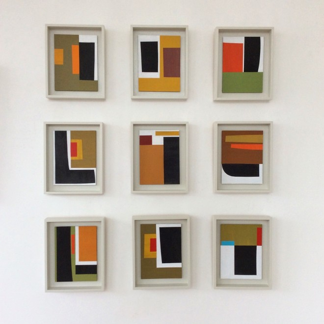 John Taylor, Nine Collages - Installation.