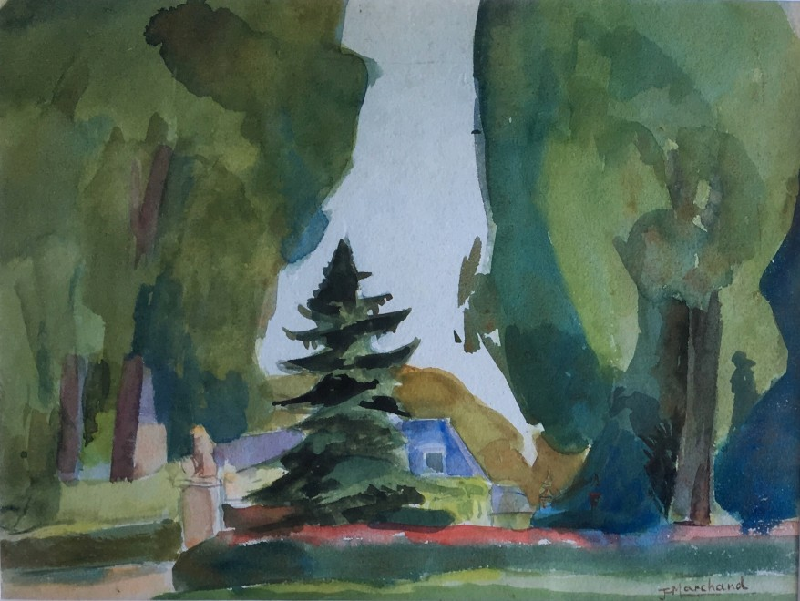 Jean Marchand (1883-1940)  Entrance to the Chateau, c. 1930's