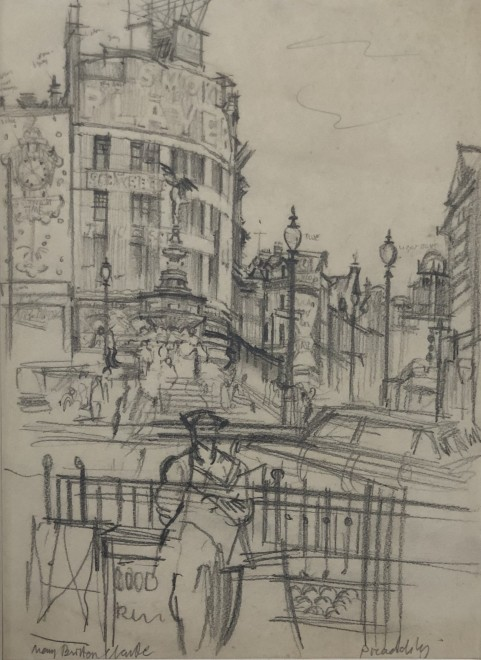 Mary Britten Clarke, Piccadilly  14 x 10 inches