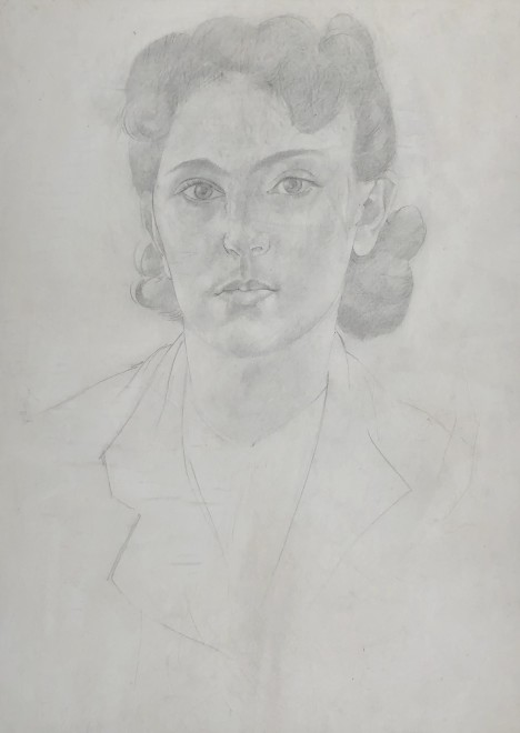 Stanley Spencer, Portrait of the Artist's Daughter, Unity Spencer, c. 1940