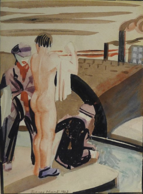 Sidney Hunt, Figures by a Canal, 1923