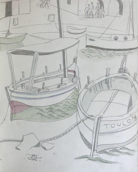 Doris Hatt, Harbour Boats, St. Tropez, 1950