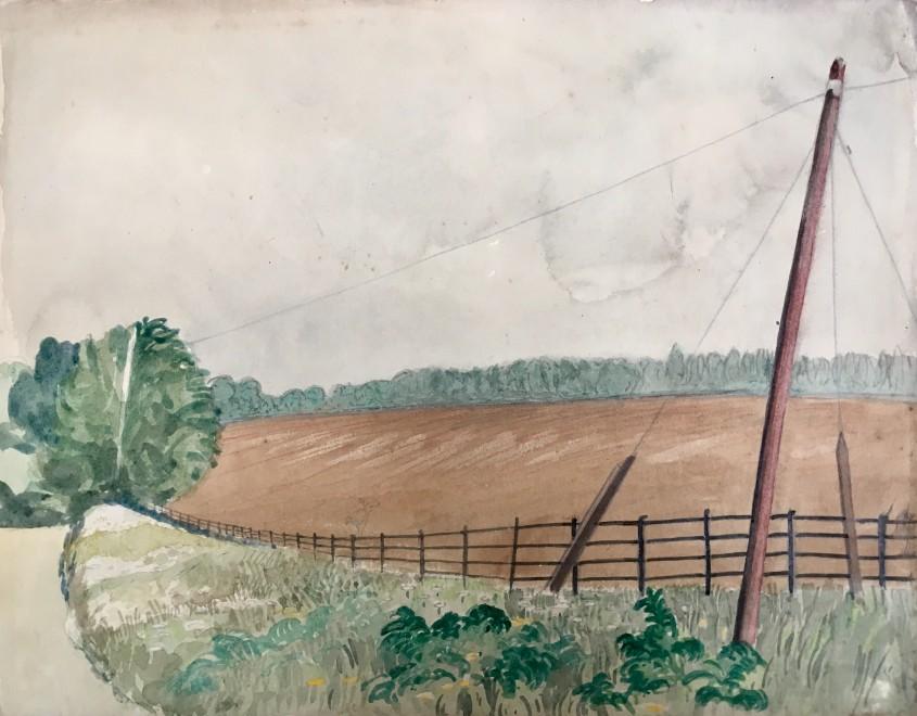 Rupert Lee, Landscape near Iver Heath, Bucks, 1922