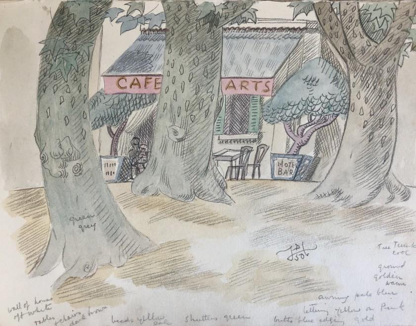 Doris Hatt, Café des Arts, St. Tropez, 1950