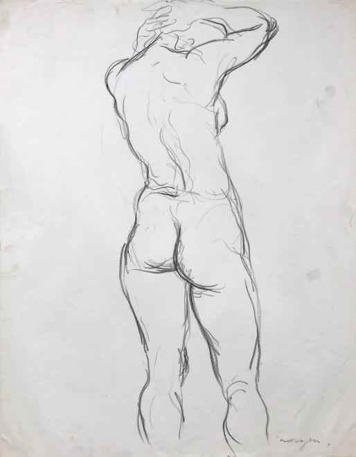 Glyn Morgan, Female Nude Study, c. 1950