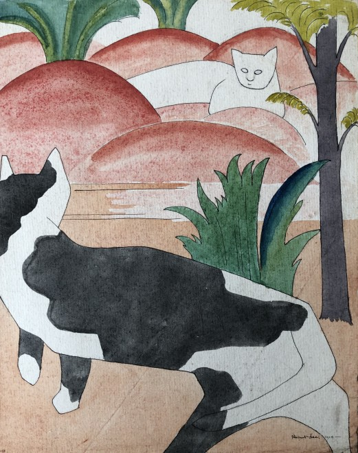 Rupert Lee, Two Cats, 1919