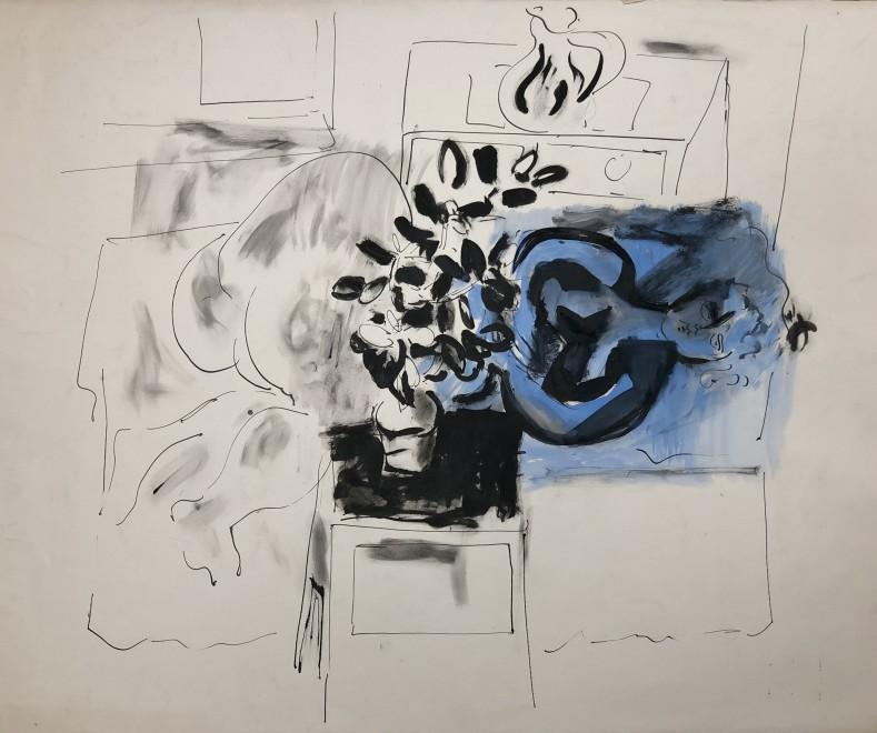 Glyn Morgan, Interior with Blue Nude, 1950