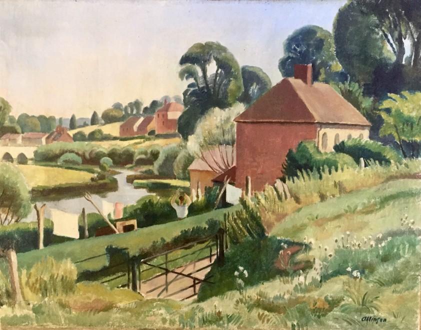 Adrian Allinson, The Stour at Sturminster, 1933